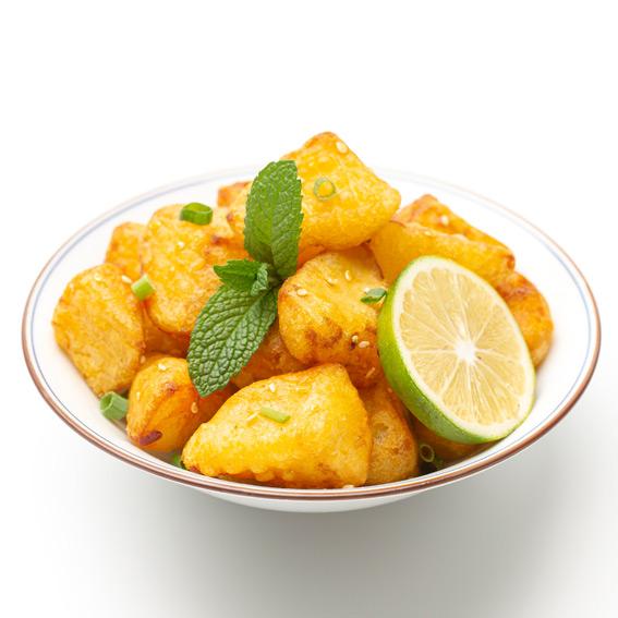 卤人甲锅巴土豆